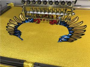 試し縫いスタート|オリジナルデザイン刺繍制作の流れ直刺繍】【MCパッチ】編