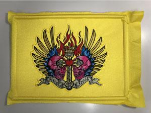 本縫い完成|オリジナルデザイン刺繍制作の流れ直刺繍】【MCパッチ】編