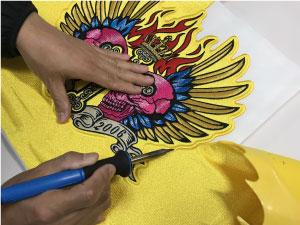 ヒートカット|オリジナルデザイン刺繍制作の流れ直刺繍】【MCパッチ】編