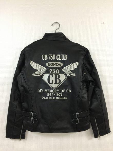 CB750CLUB様 革ジャン刺繍