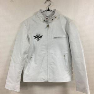 CB750CLUB様 革ジャン白 刺繍