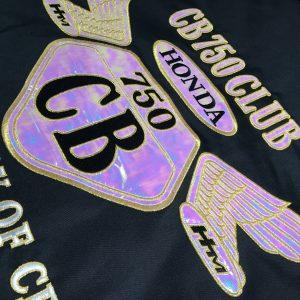 CB 750 CLUB様 七色に輝く刺繍