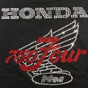 HONDA CB750 ラインストーンTシャツ