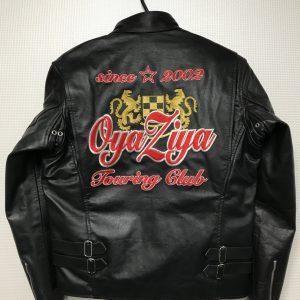 Touring Club OyaZiya様 革ジャン刺繍