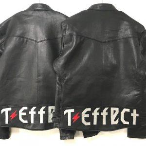 T-Effect様・革ジャンバー刺繍加工