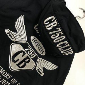 名古屋CB750CLUB様 冬用フード付きブルゾン刺繍