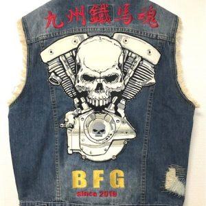 チーム BFG 様!デニムベスト刺繍!!