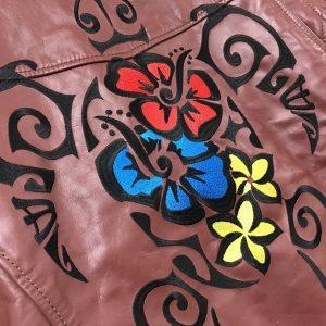 革ジャン 直刺繍