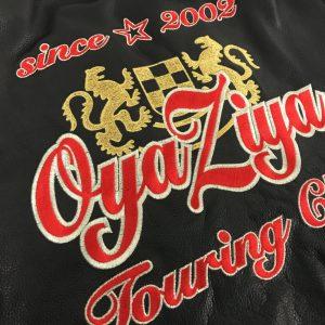 Oyaziya様 革ジャン刺繍加工