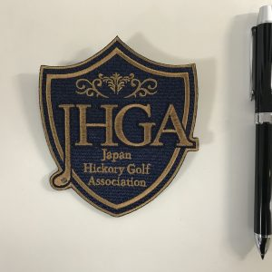 Japan Hickory Golf Association様 ワッペン 裏ピンあり