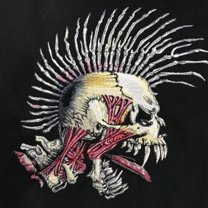 ブルゾン持込 スカル刺繍